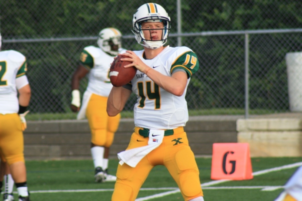 Noah Houk warms up against Lexington Catholic last season | WSTX Sports File Photo