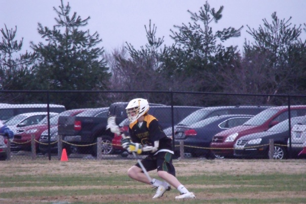 Collin Roppel shakes and bakes during the Varsity game   Photo by Chris Raymond