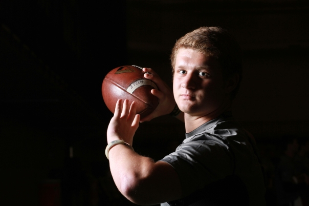 B.J. Nagle at the Elite 11 regional workout in Chicago, IL.   Photo by Tom Hauck.