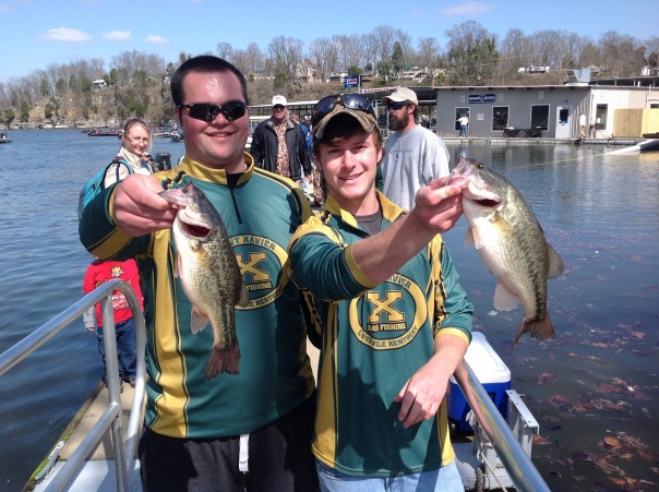 Tiger Bass Fishers Brent Sturgeon (left) and David Brewer (right) | Photo from saintx.com