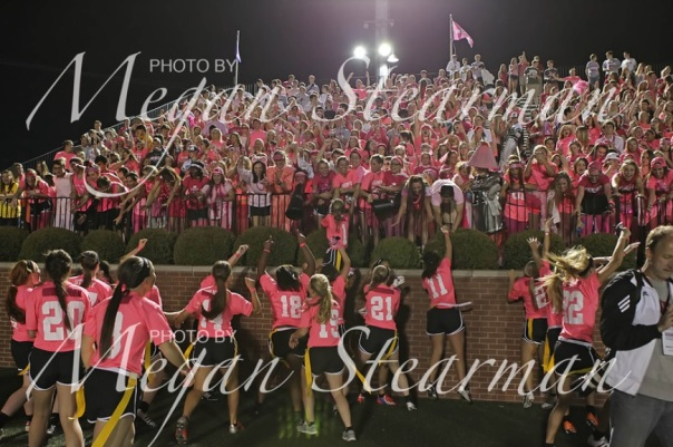 Pink and White Game Assumption Student Section