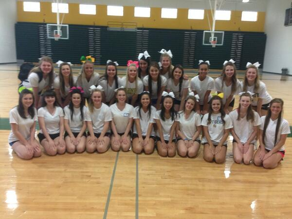 The 2014 Tiger Cheerleading Team | Photo by Maddie Decker