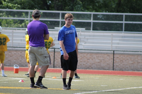 Clay Bollinger was Seen at Tiger Football Spring Practice | Photo by Jacob Hayslip