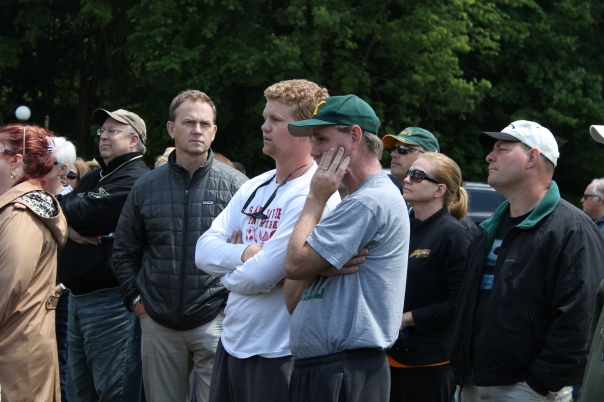 Coach J and Sam Melchior could also be seen at the Rugby State Championship | Photo by Jacob Hayslip