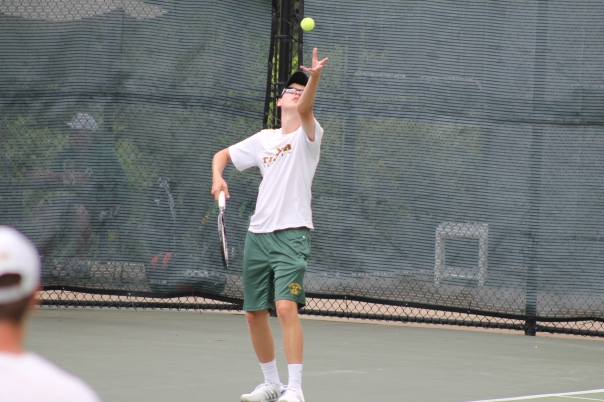Coleman Cox wins 6-0, 6-0 in the Section Two Tournament Semifinals | Photo by Jacob Hayslip