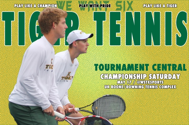 Tennis Championship Saturday Tournament Central Graphic