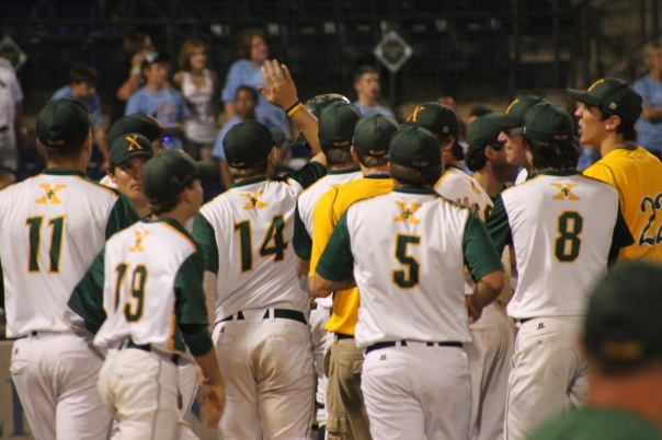 Tiger Baseball celebrates their first round win over Union County