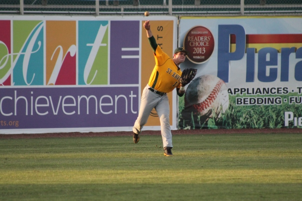 Andrew McCormick fires a ball in from the outfield | Photo by Jacob Hayslip
