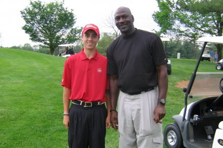A big throwback, but still cool! Justin Thomas with Michael Jordan circa 2009.