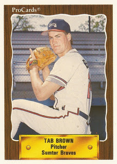 Tab Brown baseball card | Photo from greatest21days.com