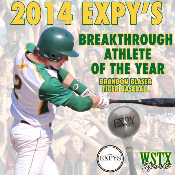Brandon Blaser Breakthrough Athlete of the Year