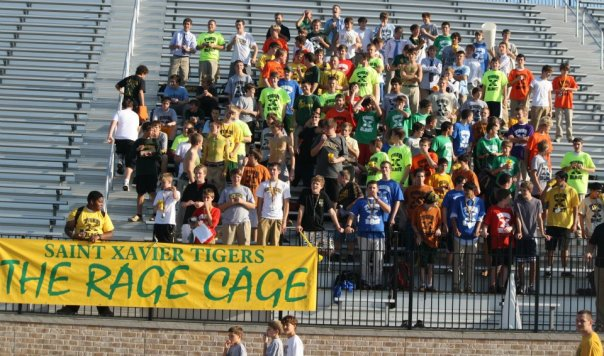 Here's a keeper. The now Seniors as Freshman in the Rage Cage. | Photo by Chris Jung
