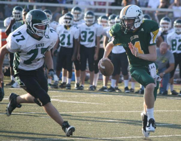 Noah led the Tigers to a 24-21 win over the visiting Rocks. | Photo by Chris Jung