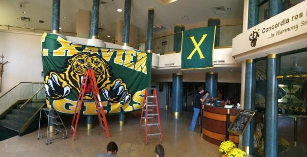 Decorating the halls of St. Xavier | Photo by Griffin Johnson