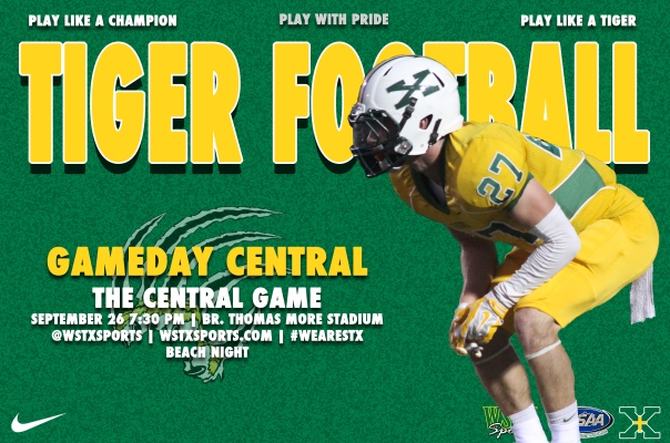 Central Football Gameday Central Graphic