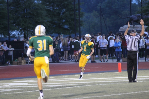 Colin O'Daniel scores his first Varsity touchdown | Photo by Jana Bollinger