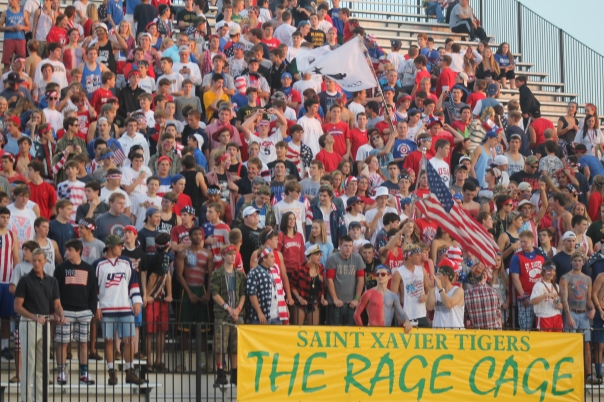 The Rage Cage was out in full force Friday night. Can they repeat the showing on Dad Night? | Photo by Jacob Hayslip