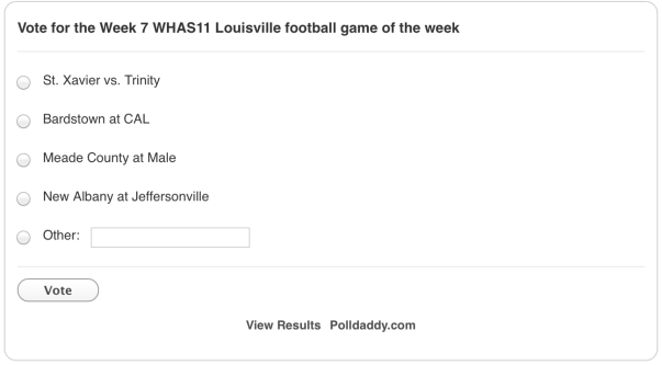 Game of the Week poll