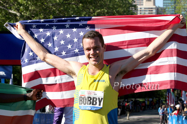 Bobby Curtis after the 2012 Healthy Kidney 10K run in New York City | Photo via villanovarunning.blogspot.com