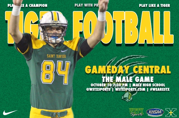 Male Football Gameday Central Graphic