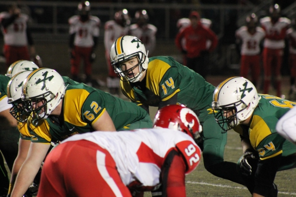 Noah Houk had a gutsy performance Friday night against Manual. | Photo by Jacob Hayslip