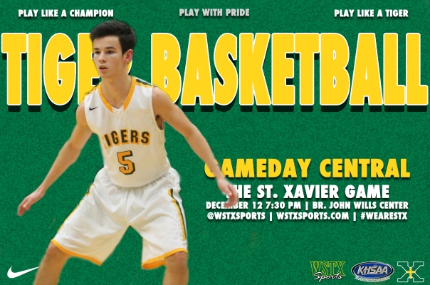 St. Xavier 2014 Basketball Gameday Central Graphic