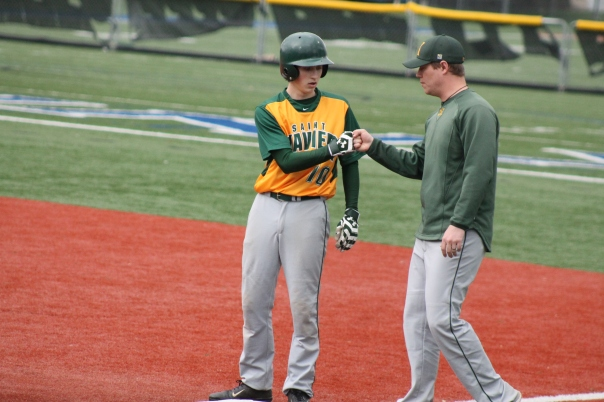 Avery Lane, Coach Damon Amlung, and the rest of St. X Baseball took care of business Saturday. | Photo by Jacob Hayslip