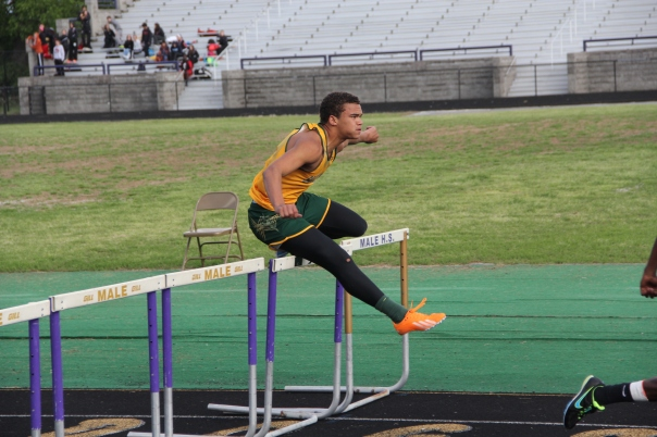 Jaylon Hibbs will undoubtedly make some noise running hurdles this season. | Photo by Jana Bollinger
