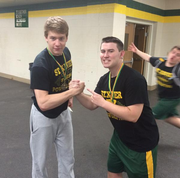 Two weight class winners, Sam Willard and Andrew Jenkins | @AndyJenks14