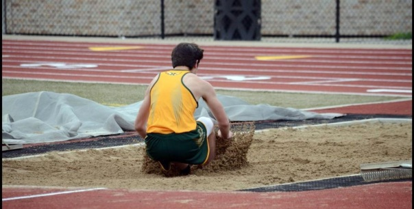 Max Masterson placed 3rd in the long jump on Wednesday. | Photo via Varsity Views