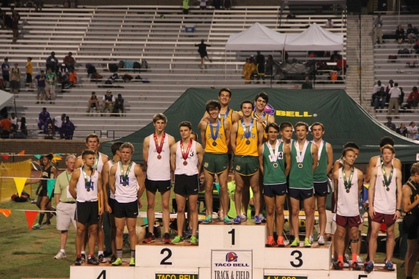 The 4 x 800 relay team made its mark on the national stage. | Photo by Jana Bollinger