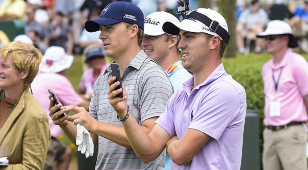 Jordan Spieth and Justin Thomas met at a junior event when they were 14-year-olds. (Chris Condon/PGA TOUR)