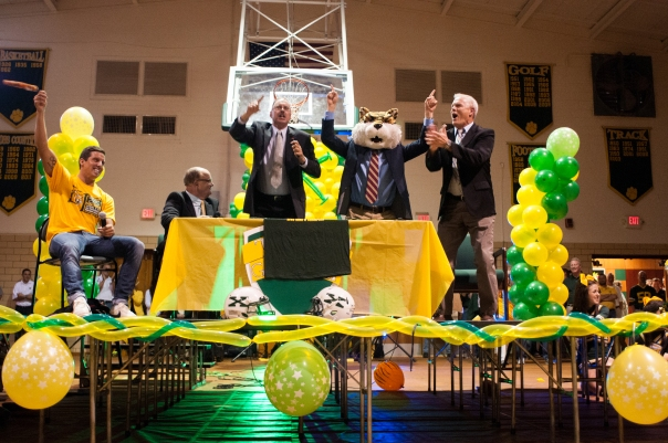 Clark Burckle was the guest picker on Tiger Gameday at the 2012 Trinity Game Pep Rally | Photo by Tim Porco