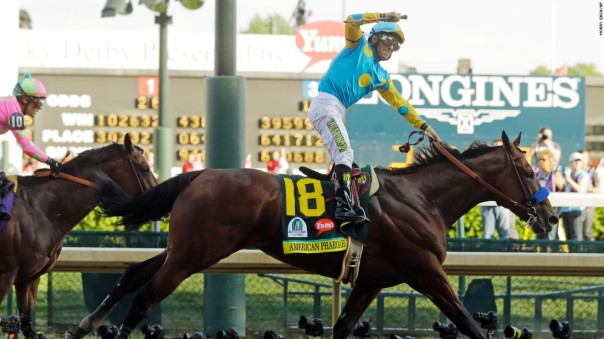 American Pharoah winning the Kentucky Derby | Photo from CNN
