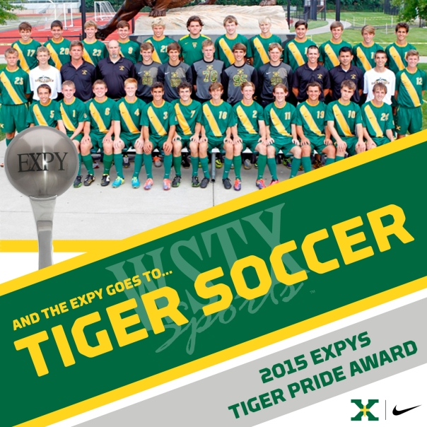 Tiger Soccer 2015 EXPYS Winners