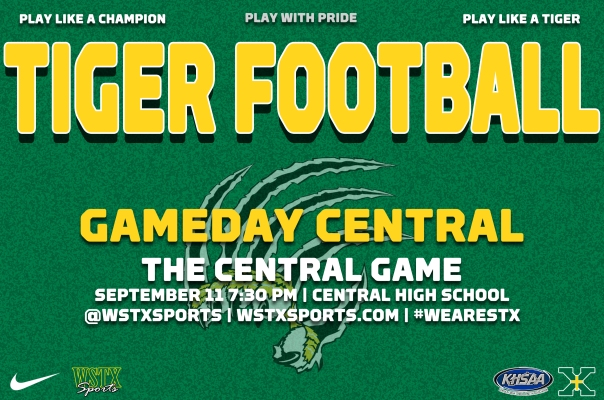 CENTRAL 2015 Football Gameday Central Graphic